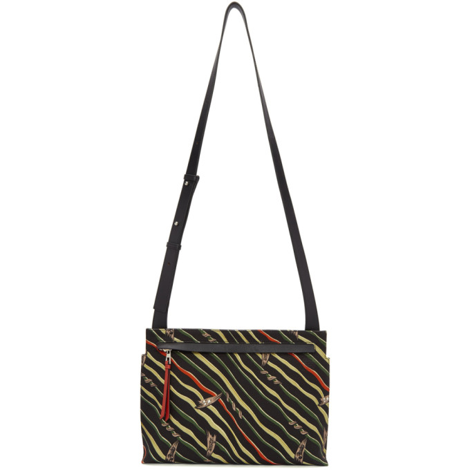 Loewe Black Paula's Ibiza Flag Logo Messenger Bag