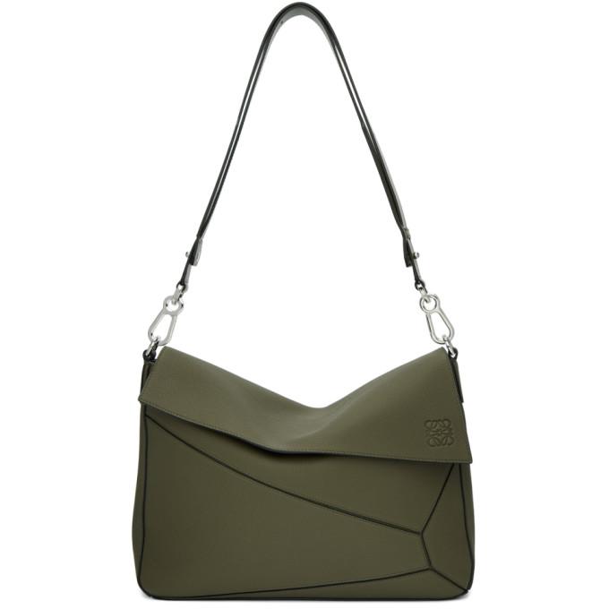 Loewe Khaki Puzzle Messenger Bag