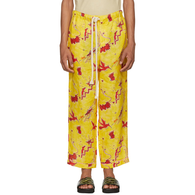 Loewe Yellow Paulas Ibiza Edition Bird Pyjama Trousers