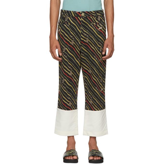Loewe Black Paulas Ibiza Edition Flag Fisherman Trousers