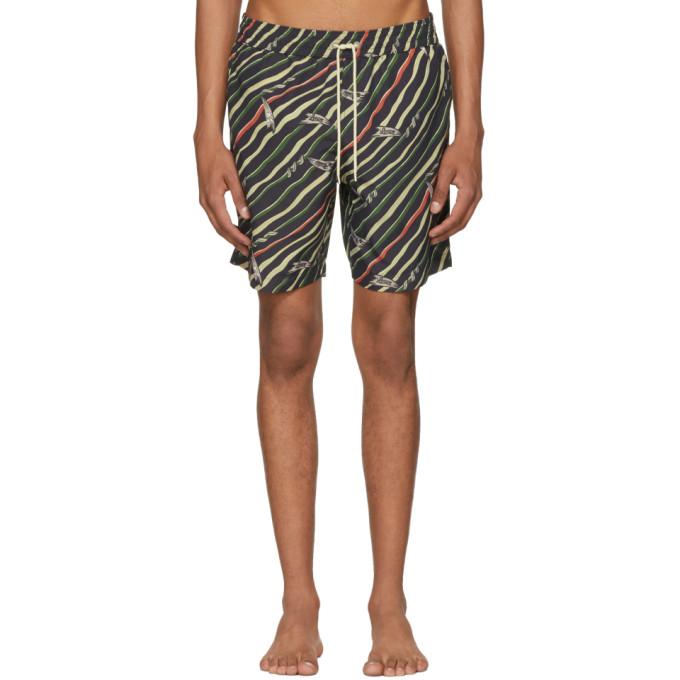 Loewe Black Paula's Ibiza Edition Flag Swim Shorts