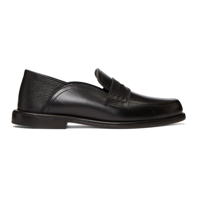 Loewe Black Slip-On Loafers