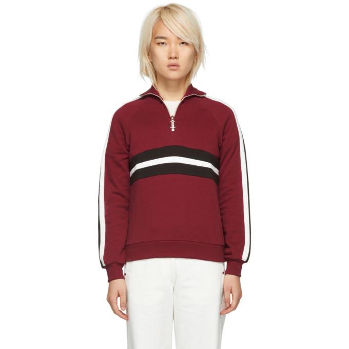 HARMONY Harmony Burgundy Sidonie Zip-Up Sweater in 035 Bordeau