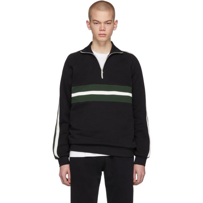HARMONY Harmony Black Sofian Zip-Up Sweater in Blk/Grn/Ecr