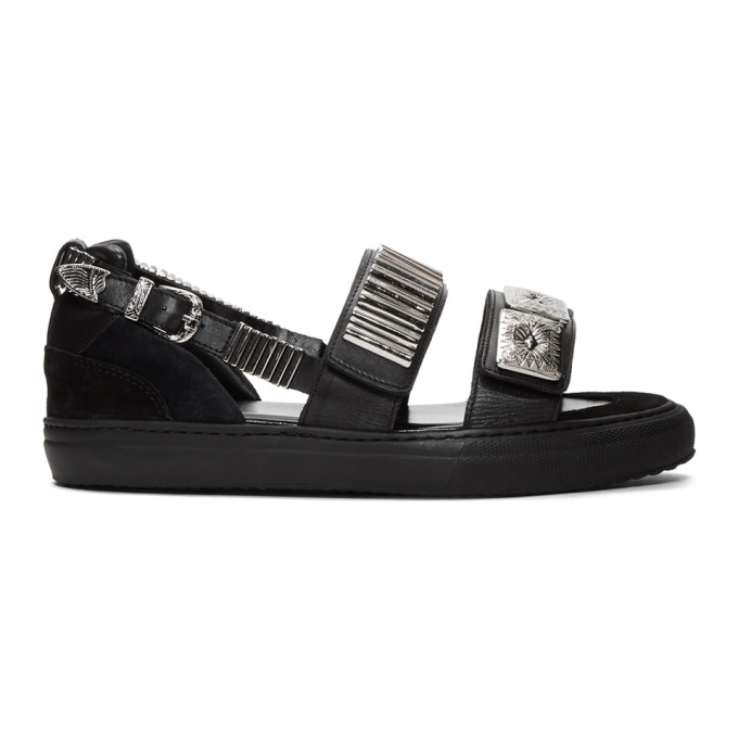 Image of Toga Virilis Black Dual Strap Sandals