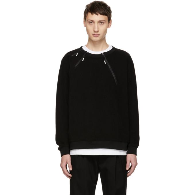 99 IS Black 3 Zip Sweatshirt