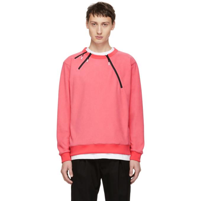 99% IS 99% Is Pink 3 Zip Sweatshirt