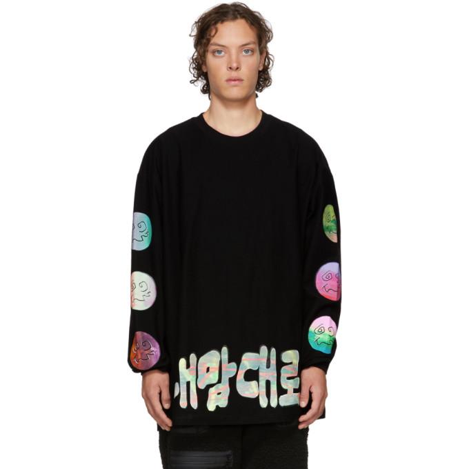 99% IS 99% Is Black Handmade Silkscreen Long Sleeve T-Shirt