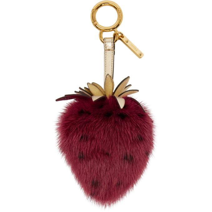 Red Mink Strawberry Keychain