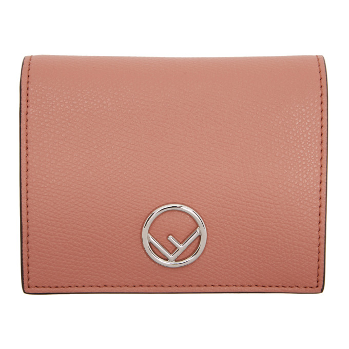 Fendi Pink 'F is Fendi' Bifold Wallet