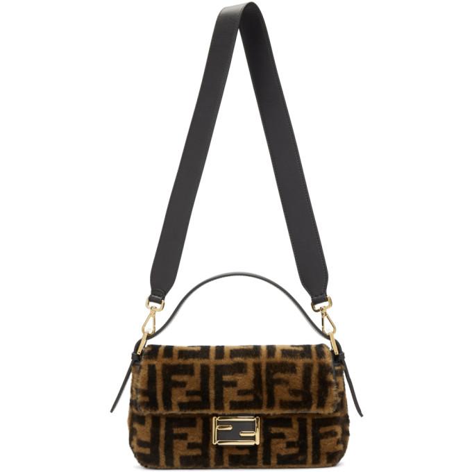 Fendi Brown 'Fendi Forever' Baguette Bag