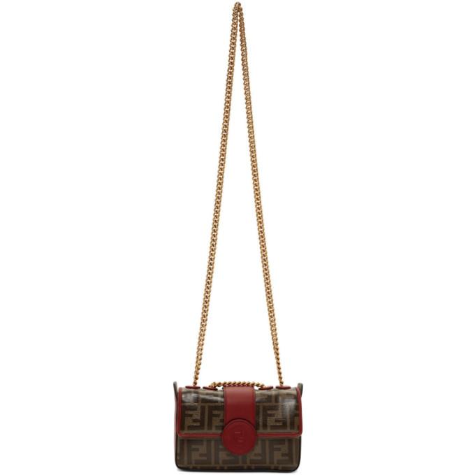 Fendi Red Mini 'Forever Fendi' Chain Bag