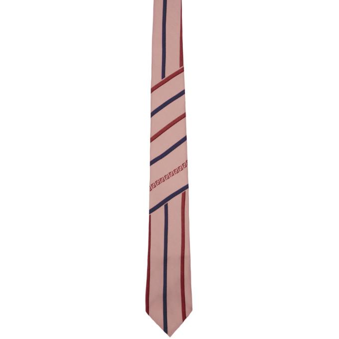 Fendi Pink 'Forever Fendi' Stripe Tie