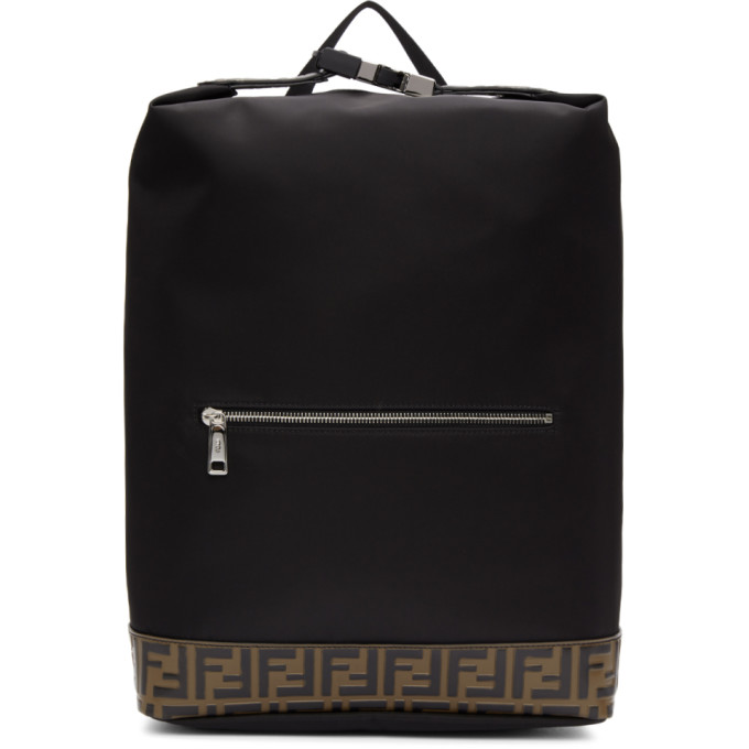 Fendi Black 'Forever Fendi' Backpack
