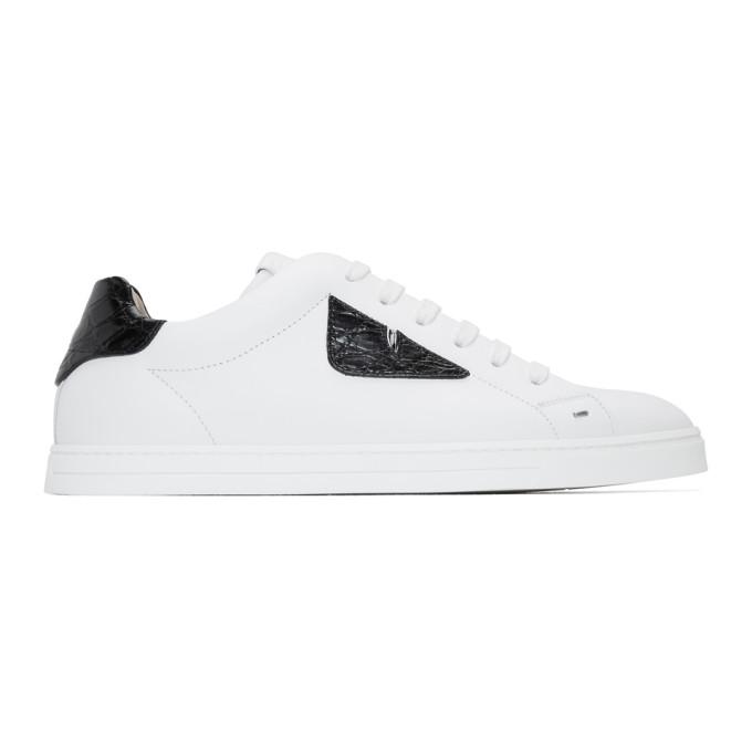 Fendi White 'Bag Bugs' Sneakers