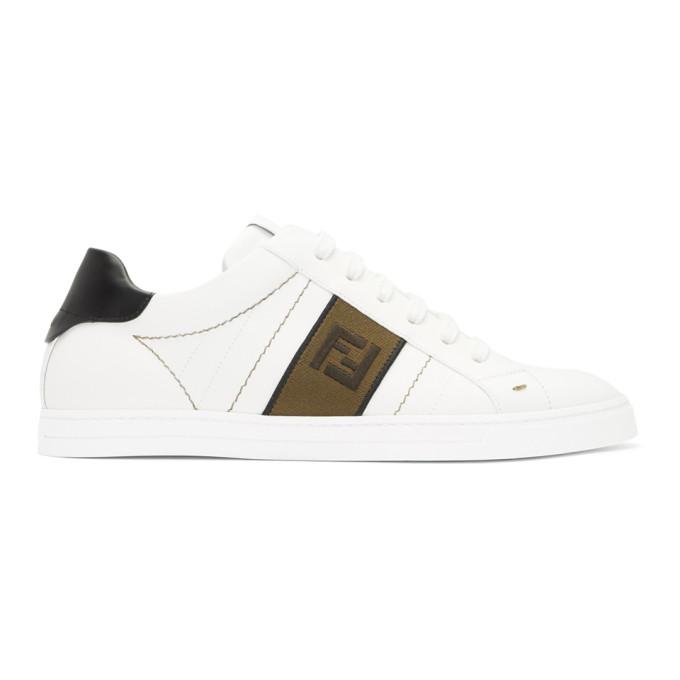 Fendi White 'Forever Fendi' Sneakers