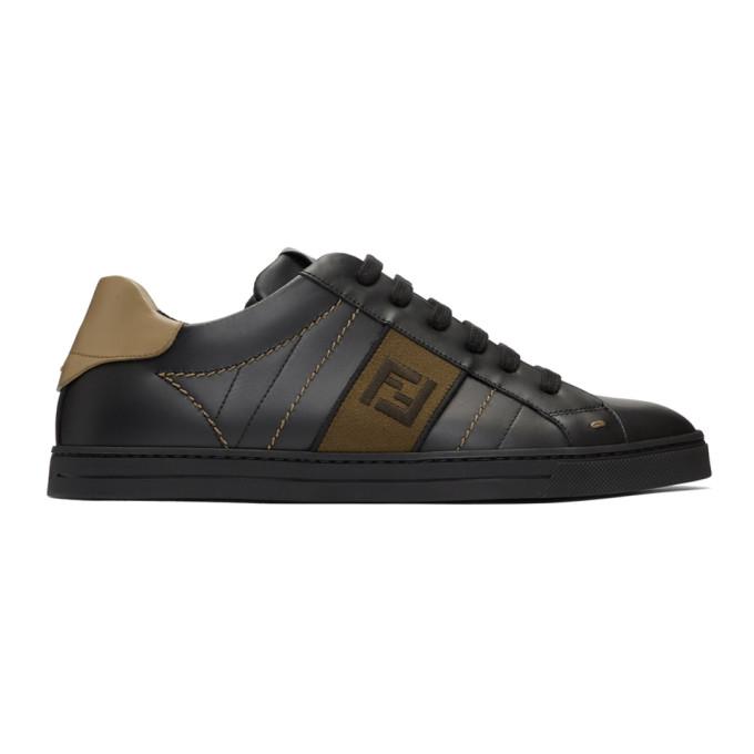 Fendi Black 'Forever Fendi' Sneakers