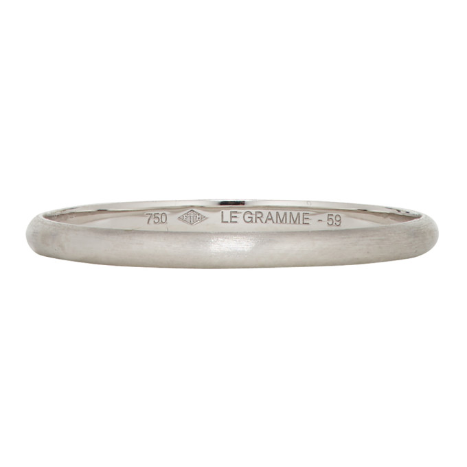 Le Gramme Silver Brushed 'Le 1 Gramme' Wedding Ring