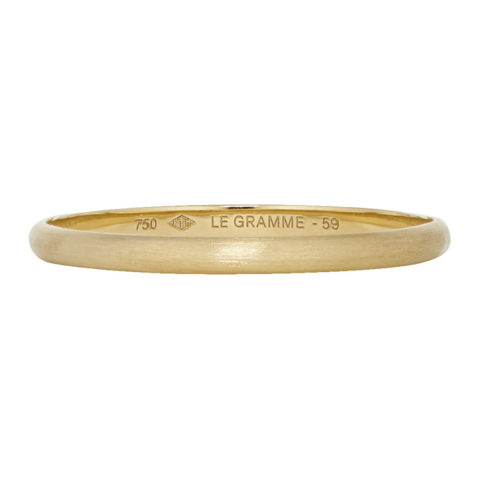 Le Gramme Gold Brushed 'Le 1 Gramme' Wedding Ring