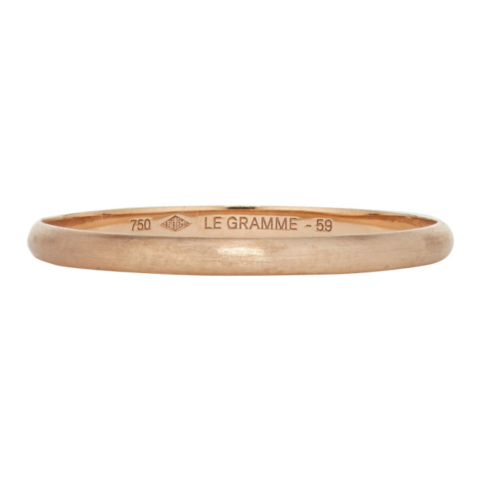 Le Gramme Copper Brushed 'Le 1 Gramme' Wedding Ring
