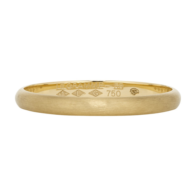 Le Gramme Gold 2G Half Bangle Wedding Ring