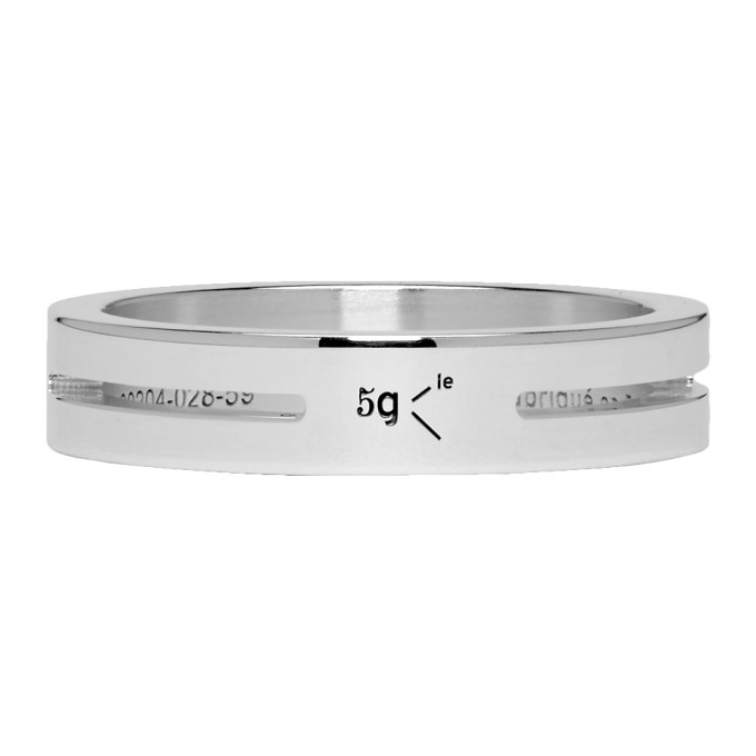 Le Gramme Silver Punched 'Le 5 Grammes' Ring