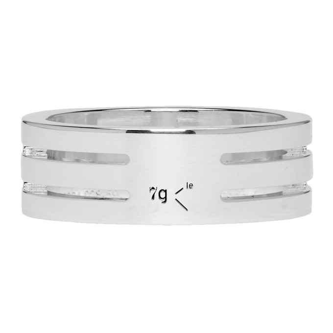 Le Gramme Silver Punched 'Le 7 Grammes' Ring