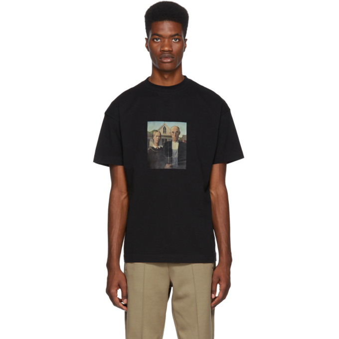 Image of Palm Angels Black American Gothic T-Shirt