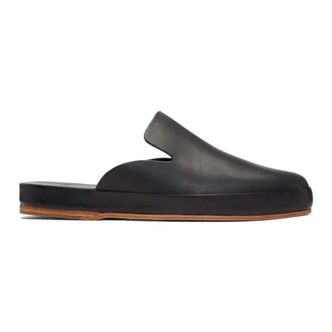 Feit Black Hand Sewn Slide Loafers