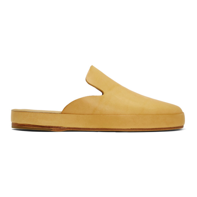 Feit Tan Hand Sewn Slide Loafers