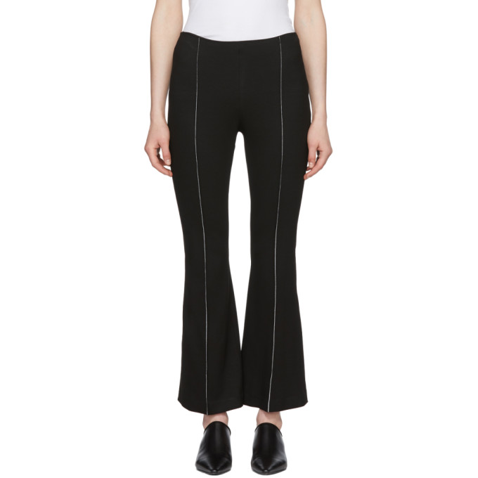 Rosetta Getty Black Cropped Flared Trousers