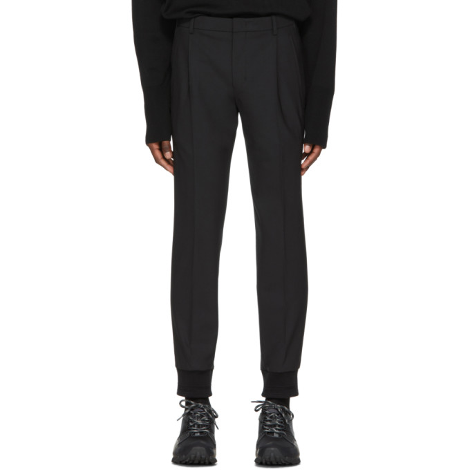 Image of Wooyoungmi Black Wool Cuff Trousers