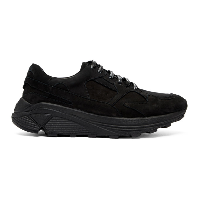 Image of Wooyoungmi Black Suede Runner Sneakers