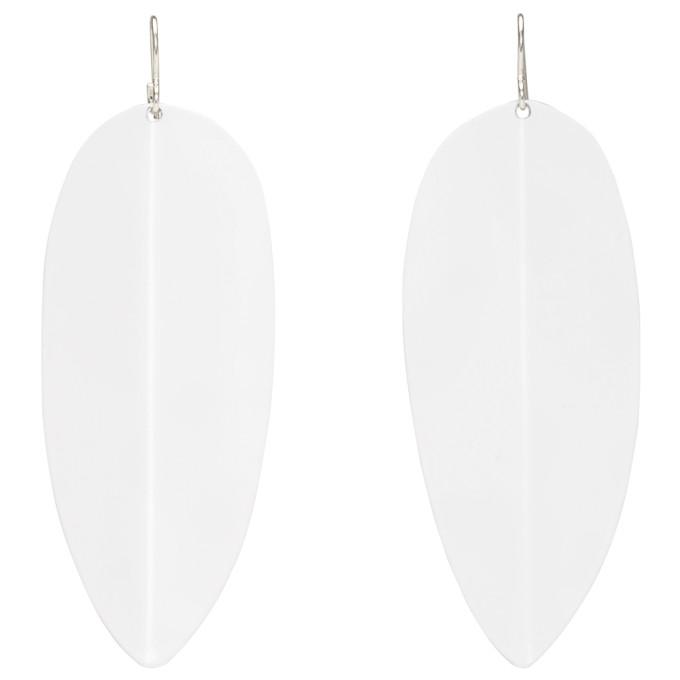 Simon Miller White Medium Pointed Shield Earrings