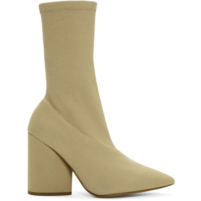 YEEZY Beige Stretch Ankle Boots