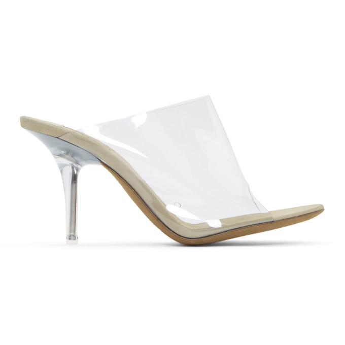 YEEZY Clear & Tan PVC Sandals