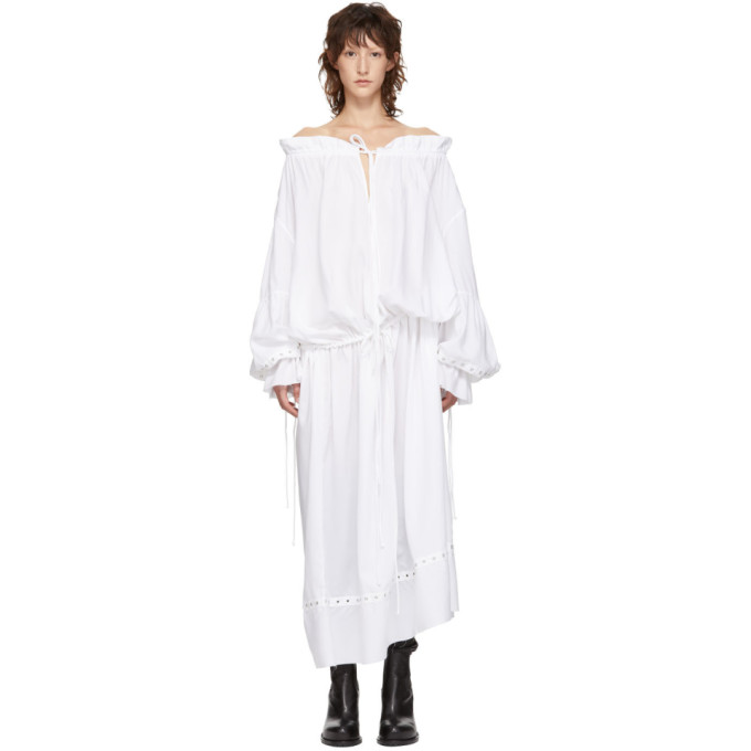 Marques' Almeida MARQUES ALMEIDA WHITE PIRATE SHIRT DRESS