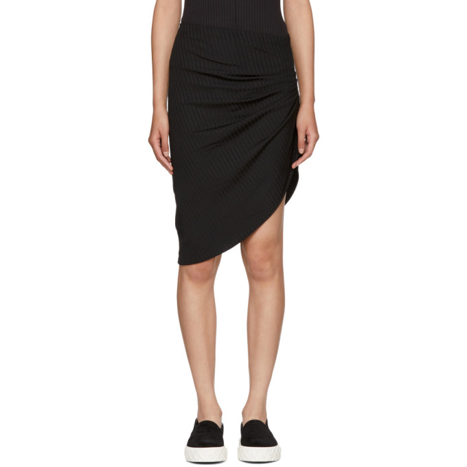 BAJA EAST BLACK RIB JERSEY CONTOUR SKIRT