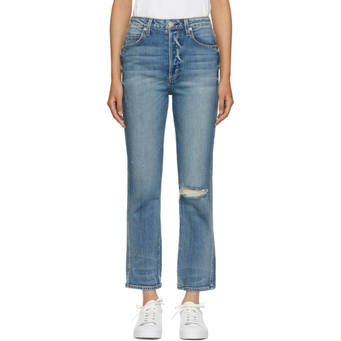 Image of Amo Blue Chloe Cropped High-Rise Jeans