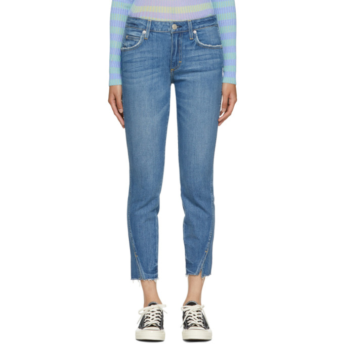 Image of Amo Blue Frayed Twist Jeans