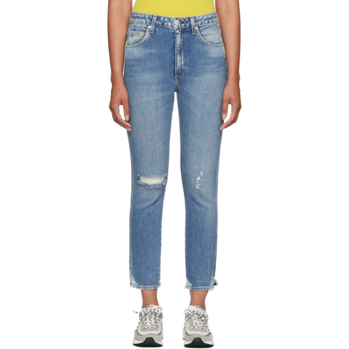 Image of Amo Blue High-Rise Stix Cropped Jeans