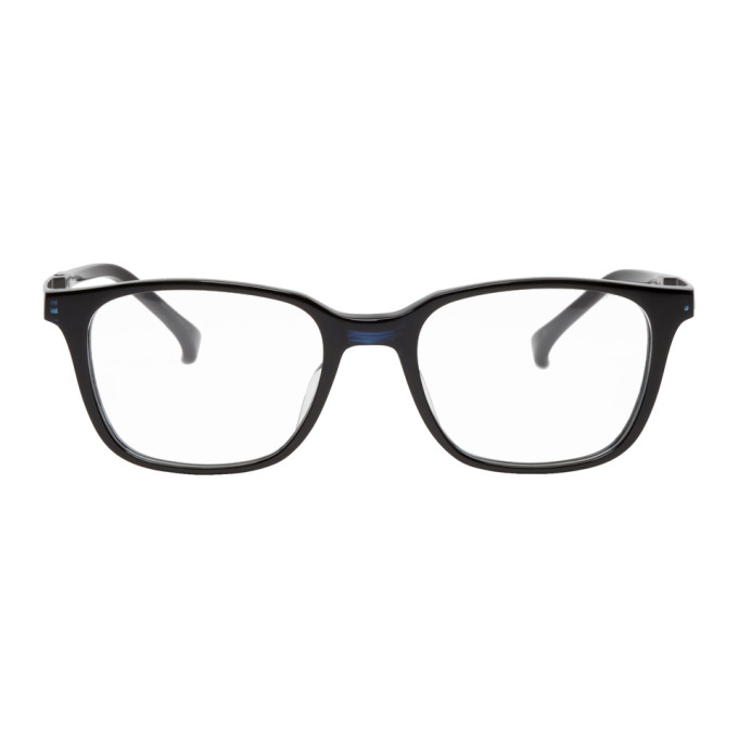 Image of Issey Miyake Men Black EL1 Wellington Glasses
