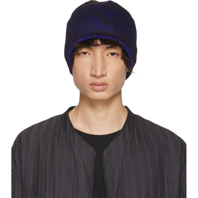 Image of Issey Miyake Men Black & Blue Press Beanie