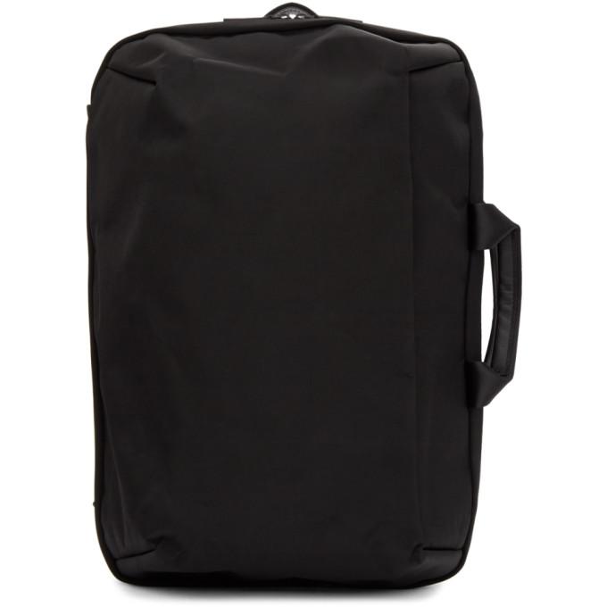 Image of Issey Miyake Men Black Convertible Toffee Nylon Backpack