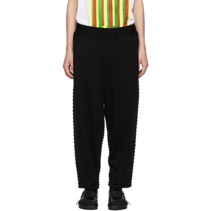 Image of Issey Miyake Men Black Apoc Basic Lounge Pants