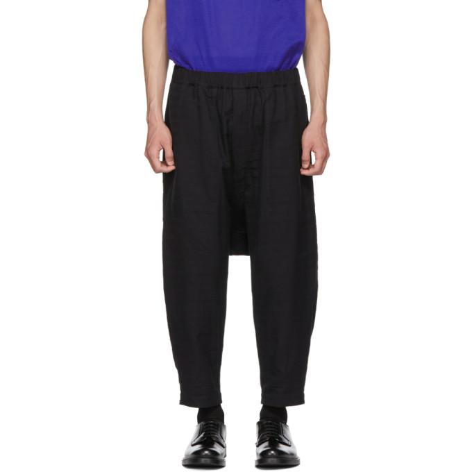 Issey Miyake Men Pantalon réversible noir Stitch DFC