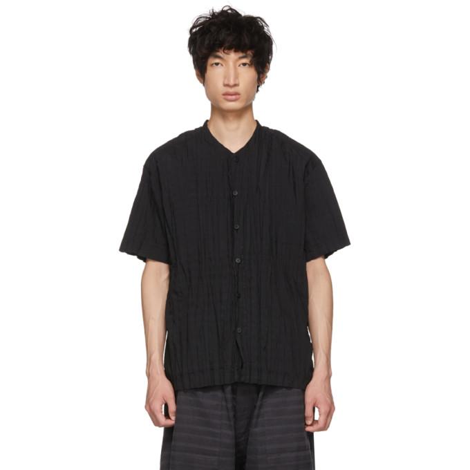 Issey Miyake Men ブラック Torus プリーツ シャツ