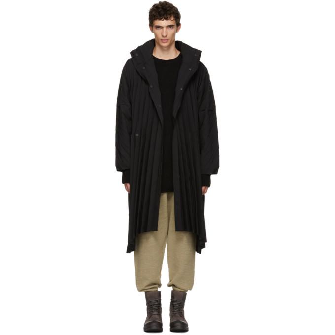 Image of Homme Plissé Issey Miyake Black Edge Coat