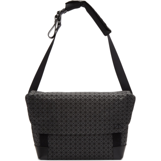Image of Bao Bao Issey Miyake Black Sling Messenger Bag