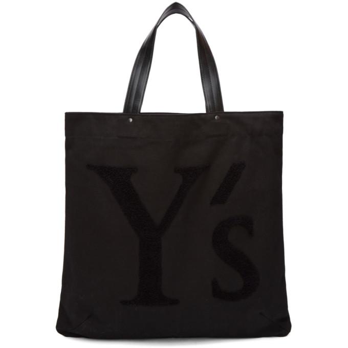 Image of Y's Black Logo Tote
